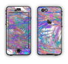 The Abstract Colorful Oil Paint Splatter Strokes Apple iPhone 6 LifeProof Nuud Case Skin Set