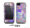 The Abstract Colorful Oil Paint Splatter Strokes Skin for the Apple iPhone 5c LifeProof Case