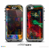 The Abstract Colorful Painted Surface Skin for the iPhone 5c nüüd LifeProof Case