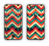 The Abstract Fall Colored Chevron Pattern Apple iPhone 6 LifeProof Nuud Case Skin Set