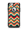 The Abstract Fall Colored Chevron Pattern Apple iPhone 6 Otterbox Commuter Case Skin Set