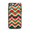 The Abstract Fall Colored Chevron Pattern Apple iPhone 6 Otterbox Symmetry Case Skin Set