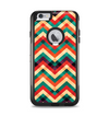 The Abstract Fall Colored Chevron Pattern Apple iPhone 6 Plus Otterbox Commuter Case Skin Set