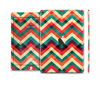The Abstract Fall Colored Chevron Pattern Skin Set for the Apple iPad Air 2