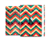 The Abstract Fall Colored Chevron Pattern Full Body Skin Set for the Apple iPad Mini 2