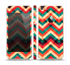 The Abstract Fall Colored Chevron Pattern Skin Set for the Apple iPhone 5s
