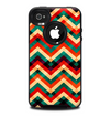 The Abstract Fall Colored Chevron Pattern Skin for the iPhone 4-4s OtterBox Commuter Case
