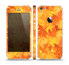 The Abstract Fall Leaves Skin Set for the Apple iPhone 5s