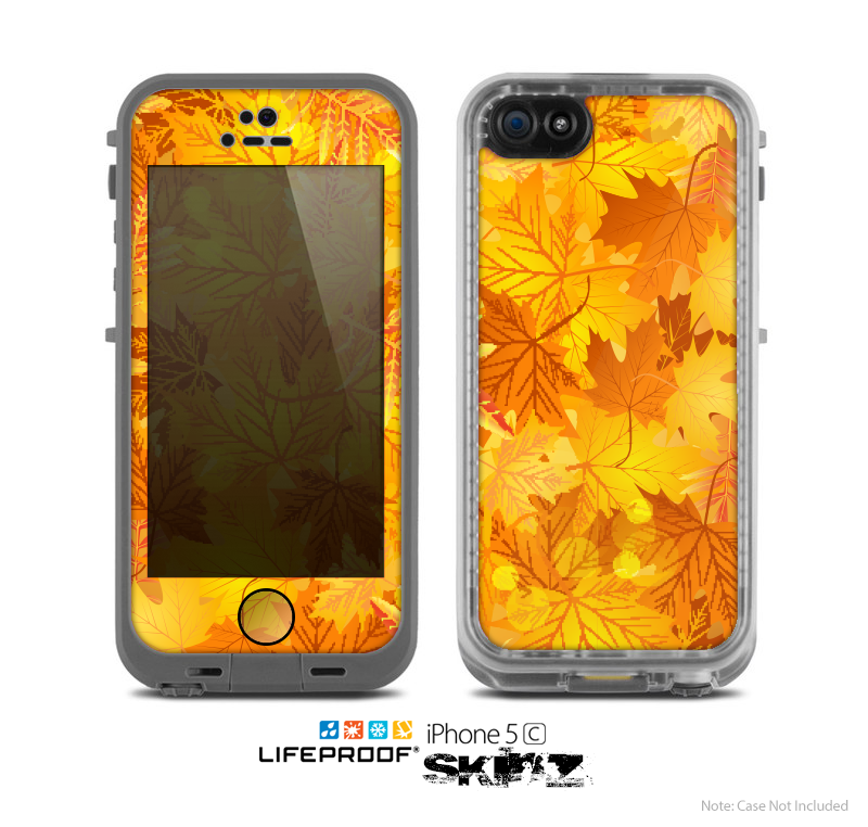The Abstract Fall Leaves Skin for the Apple iPhone 5c LifeProof Case