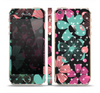 The Abstract Flower Arrangement Skin Set for the Apple iPhone 5s
