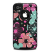 The Abstract Flower Arrangement Skin for the iPhone 4-4s OtterBox Commuter Case