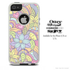 The Abstract Flower Pattern Skin For The iPhone 4-4s or 5-5s Otterbox Commuter Case