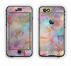 The Abstract Geometric Subtle Colored Connect Blocks Apple iPhone 6 LifeProof Nuud Case Skin Set