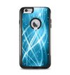 The Abstract Glowing Blue Swirls Apple iPhone 6 Plus Otterbox Commuter Case Skin Set