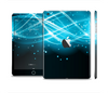 The Abstract Glowing Blue Swirls Full Body Skin Set for the Apple iPad Mini 2