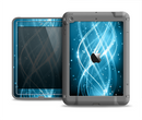 The Abstract Glowing Blue Swirls Apple iPad Air LifeProof Fre Case Skin Set
