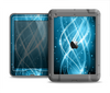 The Abstract Glowing Blue Swirls Apple iPad Mini LifeProof Nuud Case Skin Set