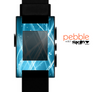The Abstract Glowing Blue Swirls Skin for the Pebble SmartWatch