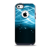 The Abstract Glowing Blue Swirls Skin for the iPhone 5c OtterBox Commuter Case