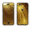 The Abstract Gold Fantasy Swoop Apple iPhone 6 LifeProof Nuud Case Skin Set