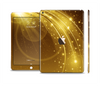 The Abstract Gold Fantasy Swoop Skin Set for the Apple iPad Air 2