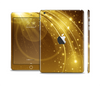 The Abstract Gold Fantasy Swoop Full Body Skin Set for the Apple iPad Mini 2