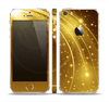 The Abstract Gold Fantasy Swoop Skin Set for the Apple iPhone 5s
