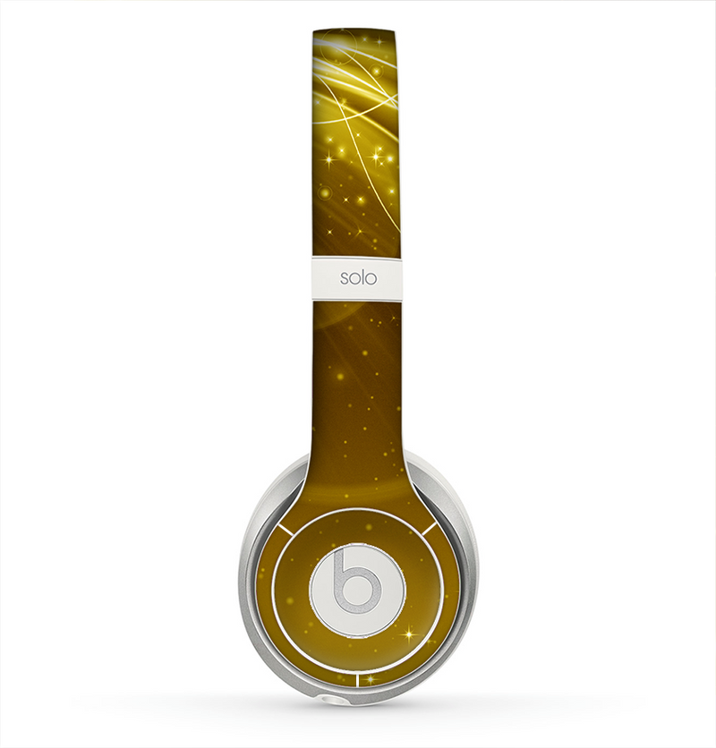The Abstract Gold Fantasy Swoop Skin for the Beats by Dre Solo 2 Headphones