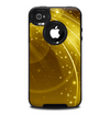The Abstract Gold Fantasy Swoop Skin for the iPhone 4-4s OtterBox Commuter Case