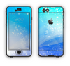 The Abstract Light Blue Scattered Snowflakes Apple iPhone 6 LifeProof Nuud Case Skin Set