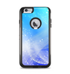 The Abstract Light Blue Scattered Snowflakes Apple iPhone 6 Plus Otterbox Commuter Case Skin Set