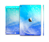 The Abstract Light Blue Scattered Snowflakes Skin Set for the Apple iPad Air 2