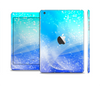 The Abstract Light Blue Scattered Snowflakes Full Body Skin Set for the Apple iPad Mini 2