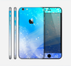 The Abstract Light Blue Scattered Snowflakes Skin for the Apple iPhone 6 Plus