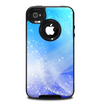 The Abstract Light Blue Scattered Snowflakes Skin for the iPhone 4-4s OtterBox Commuter Case