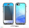 The Abstract Light Blue Scattered Snowflakes Skin for the iPhone 5c nüüd LifeProof Case