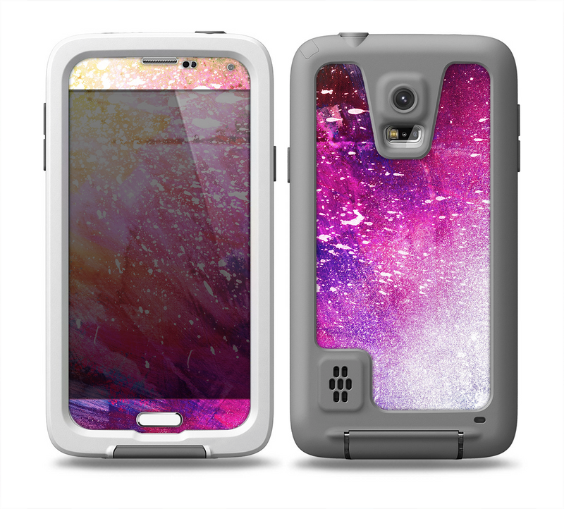 The Abstract Neon Paint Explosion Skin for the Samsung Galaxy S5 frē LifeProof Case
