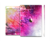 The Abstract Neon Paint Explosion Skin Set for the Apple iPad Air 2