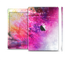 The Abstract Neon Paint Explosion Skin Set for the Apple iPad Mini 4