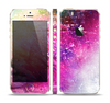 The Abstract Neon Paint Explosion Skin Set for the Apple iPhone 5s