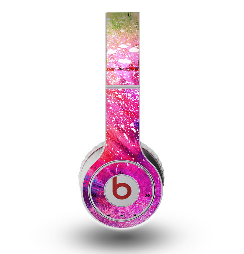 The Abstract Neon Paint Explosion Skin for the Original Beats by Dre Wireless Headphones
