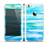 The Abstract Oil Painting Lines Skin Set for the Apple iPhone 5s