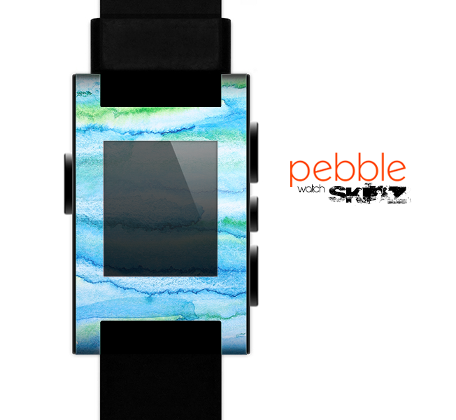 The Abstract Oil Painting Lines Skin for the Pebble SmartWatch