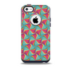 The Abstract Opened Green & Pink CubesSkin for the iPhone 5c OtterBox Commuter Case
