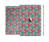 The Abstract Opened Green & Pink Cubes Skin Set for the Apple iPad Air 2