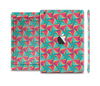 The Abstract Opened Green & Pink Cubes Full Body Skin Set for the Apple iPad Mini 2