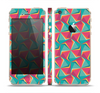The Abstract Opened Green & Pink Cubes Skin Set for the Apple iPhone 5s