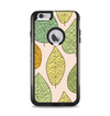 The Abstract Pastel Lined-Leaves Apple iPhone 6 Plus Otterbox Commuter Case Skin Set
