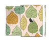 The Abstract Pastel Lined-Leaves Full Body Skin Set for the Apple iPad Mini 2