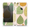 The Abstract Pastel Lined-Leaves Skin Set for the Apple iPhone 5s